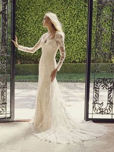 http://www.bridalshopmd.com/casablanca-2232.html Style #2232L #Tulip Visually stunning #floral lace on Tulip #softly makes its way from the dainty #beaded #cap sleeves all the way down to the train. Tulip's #long #sleeve option enhances this #bridal #gown 's versatility. Tulle and Luxe silky charmeuse lining drape from the gown's low #illusion back, accented with a button closure. #Beaded l#ace #appliques on #tulle, with #luxe #silky #charmeuse lining