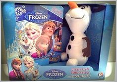 Disney Frozen Little First Look and Find and Huggable Olaf - Plush Toy and Book