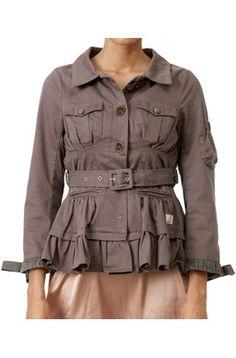 Odd Molly - waistline coat grey 835