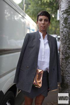 womensweardaily:  They Are Wearing: Milan Fashion Week Photo by...