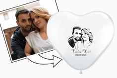 Hochzeitsdeko - Foto - Herzluftballons Luftballons (50 Stück) - ein Designerstück von Fotogruesse bei DaWanda