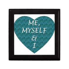 Me, Myself and I, Heart Design Keepsake Box