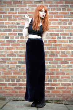 Crop Top Thing, Blue Velvet Maxi, Creepers