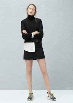 Lapels pocket skirt | MANGO