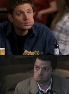 It's so funny/adorable how Castiel has been picking up on some aspects of Dean's personality and mirroring them.