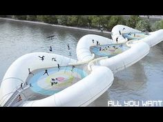 Imagine Bouncing On This Trampoline Bridge To Cross The Seine River In Paris, Yes Please