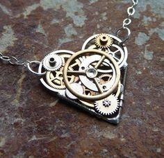 Clockwork Heart Necklace Empathy Machine by amechanicalmind, $50.00