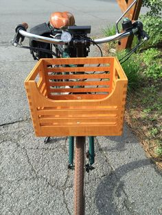 Bicycle front cargo crate. Fits Sunlite front rack.