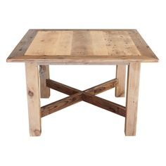 This is a square bistro table made from reclaimed wood. The wood is barnwood that has been salvaged from barns in the midwestern United States and each piece can be traced back to the original barn it came from. No two tables are alike. This table measures 36 inches by 36 inches and is 30 inches tall. Each table is custom made to order and can be made to almost any dimensions.