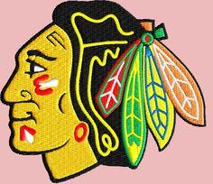 Chicago Blackhawks logo 2 pack logos machine embroidery design