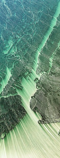 Flowing City Map - New York by Chaotic Atmospheres on Behance