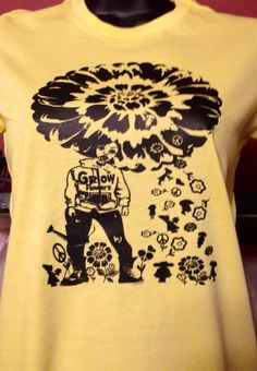 A personal favorite from my Etsy shop https://www.etsy.com/listing/200881318/grow-flowerz-fitted-tee