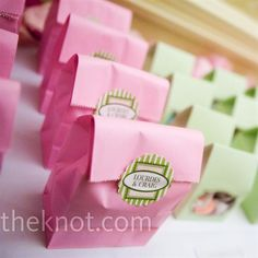 Candy Bag Favors- Still feel like a kid? Treat your guests with a goodie bag. photo by: Ricardo Serpa and Jonathan Mavila/Lux Images Photo Candy Bags, Goodie Bags, Wedding Favors, Party Favors, Wedding Ideas, Wedding Decor, 50th Birthday, Birthday Celebration, Wedding Paper