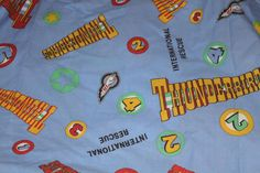 Thunderbirds Are Go Single Duvet with Pillowcase Great Fabric for Upcycling. Gerry Anderson Supermarionation by AtticBazaar on Etsy Thunderbirds Are Go, Science Fiction, Duvet, Handmade Gifts, Fabric, Etsy, Repurpose, Sci Fi, Down Comforter