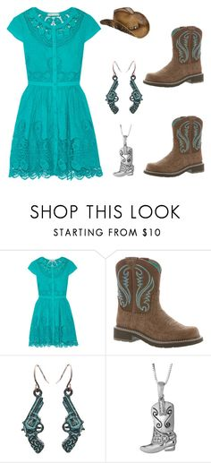 """""""easy dress"""" by im-karla-with-a-k ❤ liked on Polyvore featuring Alice + Olivia and Ariat"""