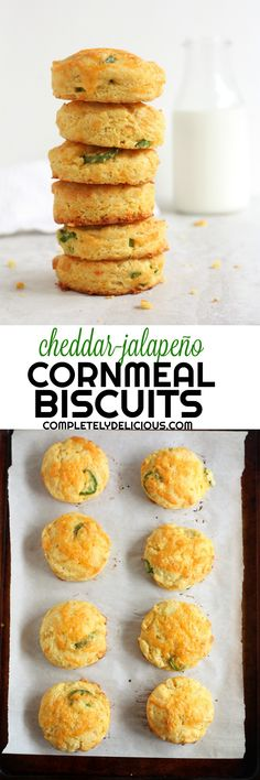 Not your average buttermilk biscuits, these come full of gritty cornmeal, sharp cheddar cheese, and spicy jalapeños.