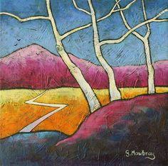 Winter Birches by Gillian Mowbray