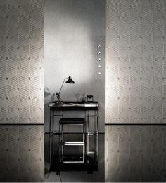 Luksusowa tapeta winylowa z wzorem w fale
