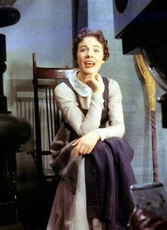 "Julie Andrews filming ""Cinderella"" (1957)"