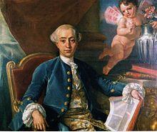 Giacomo Casanova ritratto dal fratello Giovanni
