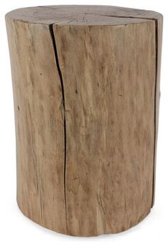 Cottonwood Log Table - contemporary - Side Tables And End Tables - Pfeifer Studio