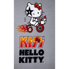 Hello Kitty Kiss Fleece Panel Bicycle Grey