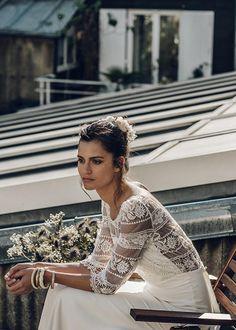 Mariage - Accessoires Laure de Sagazan : Couronne Bellay - Blanche