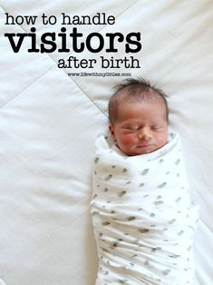 If you're pregnant and not sure how to handle visitors after birth, this post is for you! Great tips on what to do, what to say, and why you're in charge!