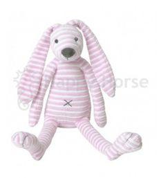 Ružový pruhovaný králiček Reece Happy Horse - 40cm