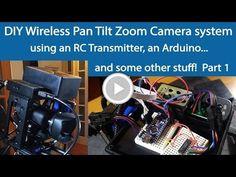 Wireless Pan Tilt Zoom Camera system using a Bescor MP-101, RC transmitter… #HackerSpaceTech #arduino #arduinoclass #tutorials www.hackerspacetech.com www.arduinoclass.com