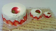 ToyCheff cook Mini strawberry Cake icecream egg chocolate 토이쉐프 미니 딸기케익 만들기