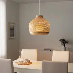 Hanglampen - IKEA Led Ceiling Lights, Ceiling Lamp, Luminaire Ikea, Bamboo Light, Bamboo Lamps, Clear Light Bulbs, Ikea Ps, Make A Lamp, Ikea Family