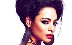 Télécharger fonds d'écran Yasmin Kadi, 4k, chanteur Indien, make-up, portrait, belle femme