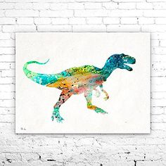 Tyrannosaurus Rex T-rex 3 Dinosaur Watercolor Print, watercolor painting, watercolor art, home decor, watercolor animal, Kids Wall Art. Tyrannosaurus Rex T-rex 3 Dinosaur Watercolor Print, watercolor painting, watercolor art, home decor, watercolor animal, Kids Wall Art, My prints are made in my own art studio by me, using Epson Pigment Inks, which are tested and guaranteed not to fade for at least 100+ years and fine art watercolor paper. I use Epson best wide format printers! If you are...