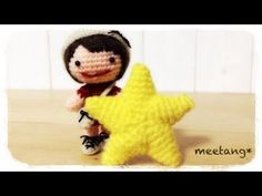 How to crochet a star (1/3) 星の編み方 (1/3) by meetang - YouTube