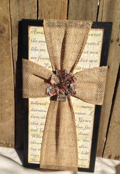 I love sharing God's word and encouragement through handcrafted pieces of art. I specialize in faith based home decor including wooden signs, frames, candle holders, cards, magnet boards and more. All artwork is handcrafted one item at a time. Wooden Crosses, Crosses Decor, Burlap Projects, Craft Projects, Craft Ideas, Frame Crafts, Wood Crafts, Fabric Crafts, Spring Crafts