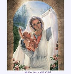 Mother Mary | Mother Mary with Child - Nanette Crist