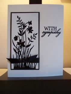With Sympathy - by duchiedog - Cards and Paper Crafts at Splitcoaststampers by ivy Homemade Greeting Cards, Greeting Cards Handmade, Homemade Cards, Scrapbooking, Scrapbook Cards, Embossed Cards, Get Well Cards, Card Sketches, Sympathy Cards