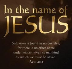 Image result for Power in the name of Jesus Christ