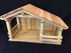 Wood Stable four stalls /Barn signs gift ideas primitive Christmas Crib Ideas, Christmas Manger, Christmas Wood, Christmas Crafts, Popsicle Stick Houses, Popsicle Stick Crafts, Craft Stick Crafts, Wood Crafts, Nativity Stable