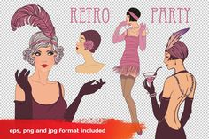 Art Deco Girls Illustrations Vol. 1 by Varvara Gorbash on @creativemarket