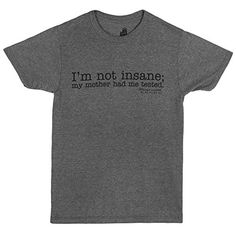 Ripple Junction Big Bang Theory I'm Not Insane Adult T-shirt-Black on Grey (X-Large) - http://geekyshirtsdepot.com/ripple-junction-big-bang-theory-im-not-insane-adult-t-shirt-black-on-grey-x-large/