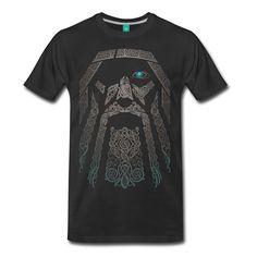 Odin Nordic God Men's Premium T-Shirt Summer Short Sleeves Cotton T-Shirt Fashion Men Lastest Male Designing T Shirt