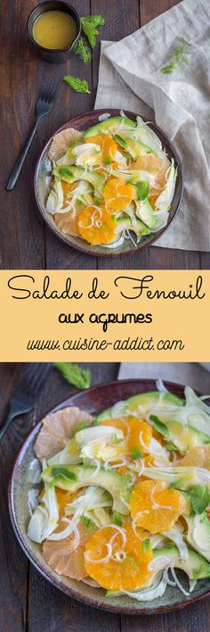 Salade au Fenouil, Agrumes & Avocat Veggie Recipes, Healthy Recipes, Batch Cooking, What To Cook, Raw Vegan, Soul Food, Curry, Food Porn, Brunch
