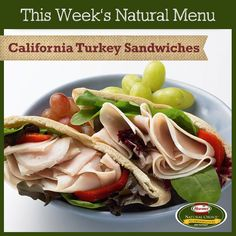 Sit down with a fresh and delicious sandwich at lunch, filled with Hormel® Natural Choice® meats. #food #turkey #sandwiches #lunch #dinner #healthy  http://www.hormelfoodsrecipes.com/recipes/details/998/california-turkey-sandwiches.aspx