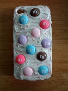 M Decoden iphone 4 Case with Pink by ExcessiveCreations on Etsy. , via Etsy.