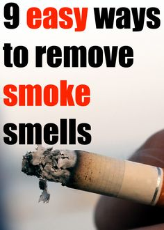 How to remove cigarette smells from your home, car, clothes, thrifted finds or pretty much anything else.