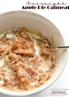 Overnight Apple Pie Oatmeal Recipe, using Steel Cut Oats in the Slow Cooker. - Overnight Apple Pie Oatmeal Recipe, using Steel Cut Oats in the Slow Cooker. Slow Cooker Oats, Slow Cooker Breakfast, Slow Cooker Apples, What's For Breakfast, Breakfast Dishes, Slow Cooker Recipes, Crockpot Recipes, Gourmet Recipes, Cooking Recipes