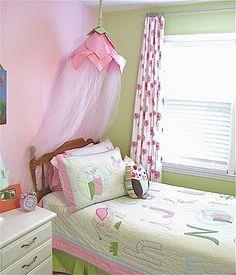 A girly canopy: perfect big girl reward when N gets a big girl bed!