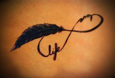 Love Life Infinity Tattoo Poster - http://tattoosaddict.com/love-life-infinity-tattoo-poster.html #infinity, infinity tattoo, infinity tattoos, life, love, poster, tattoo